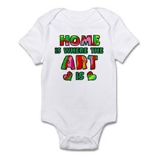'Home Is Where The Art Is' Infant Bodysuit