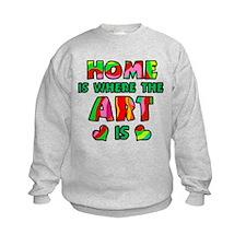 'Home Is Where The Art Is' Sweatshirt