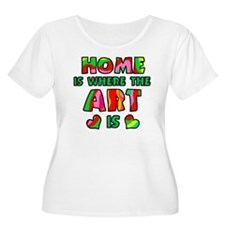 'Home Is Where The Art Is' T-Shirt