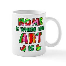 'Home Is Where The Art Is' Mug