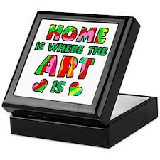 'Home Is Where The Art Is' Keepsake Box
