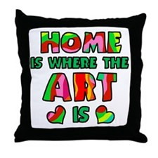 'Home Is Where The Art Is' Throw Pillow