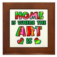 'Home Is Where The Art Is' Framed Tile