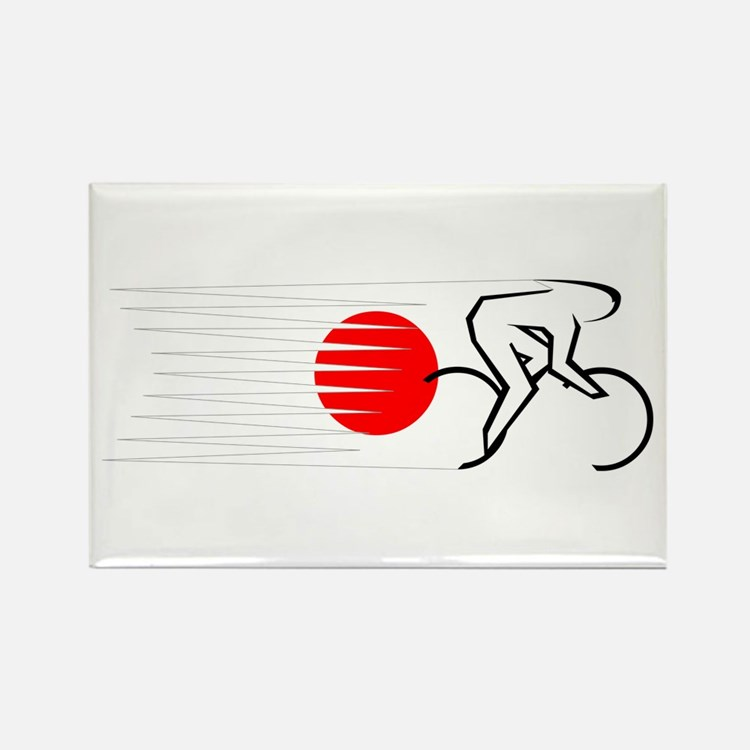 Track Cycling - Japan Rectangle Magnet