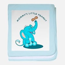Mommy's Little Peanut - baby blanket - blue