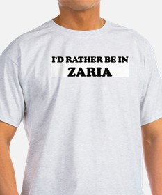 Rather be in Zaria Ash Grey T-Shirt