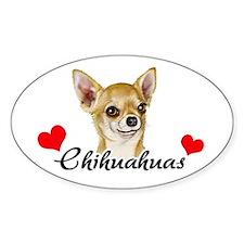 Love Chihuahuas Decal