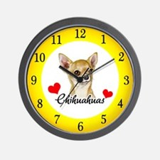 Love Chihuahuas Wall Clock