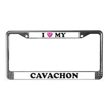 I Heart My Cavachon License Plate Frame