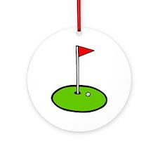 'Golf Green' Ornament (Round)