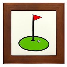 'Golf Green' Framed Tile