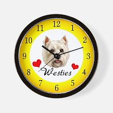 Love Westies Wall Clock