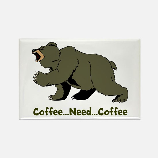 Need Coffee Rectangle Magnet