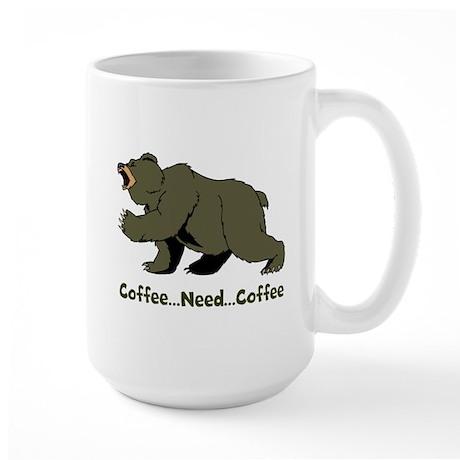 Need Coffee Large Mug