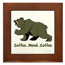 Need Coffee Framed Tile