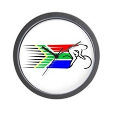 Track Cycling - South Africa Wall Clock