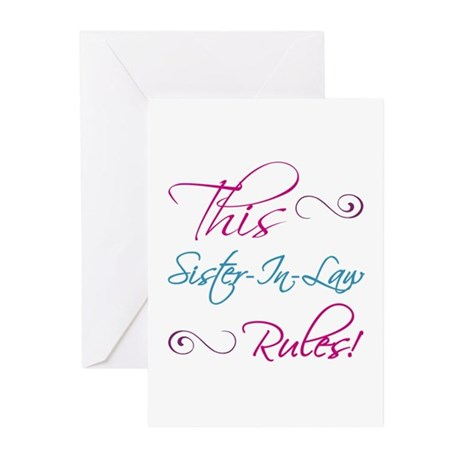 This Sister-In-Law Rules Greeting Cards (Pk of 10)