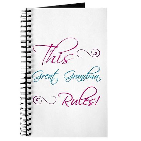 This Great Grandma Rules Journal