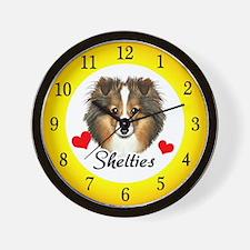 Love Shelties Wall Clock