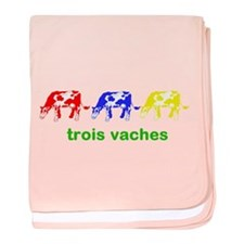 Trois Vaches (3 cows) baby blanket