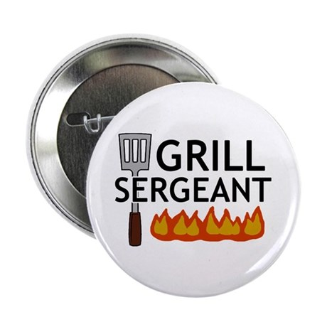 """'Grill Sergeant' 2.25"""" Button (10 pack)"""