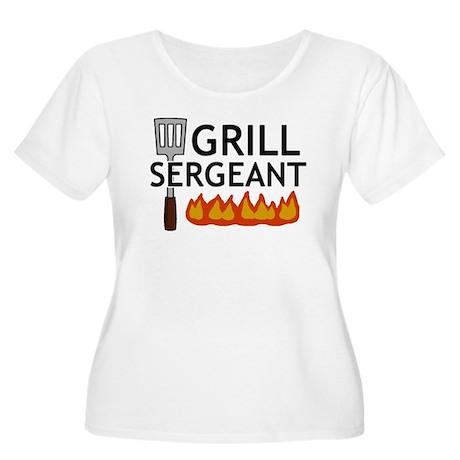 'Grill Sergeant' Women's Plus Size Scoop Neck T-Sh