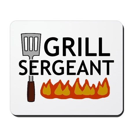 'Grill Sergeant' Mousepad