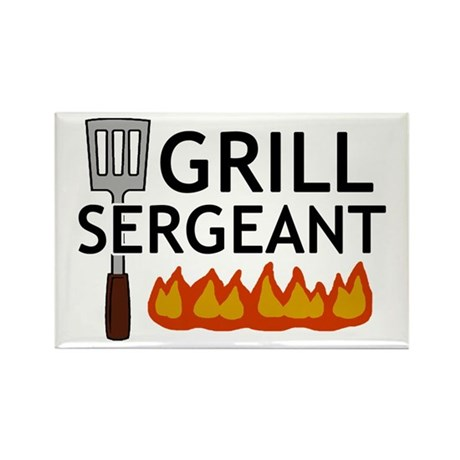 'Grill Sergeant' Rectangle Magnet