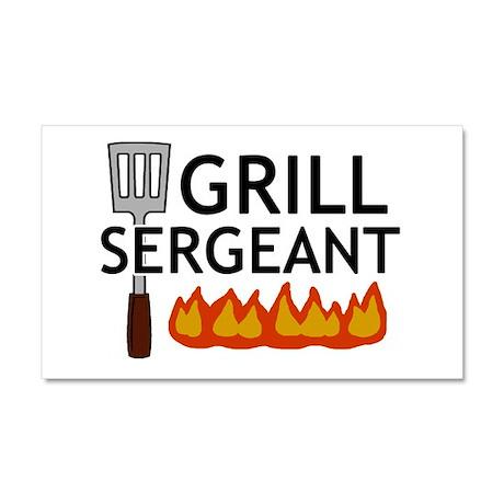 'Grill Sergeant' Car Magnet 20 x 12