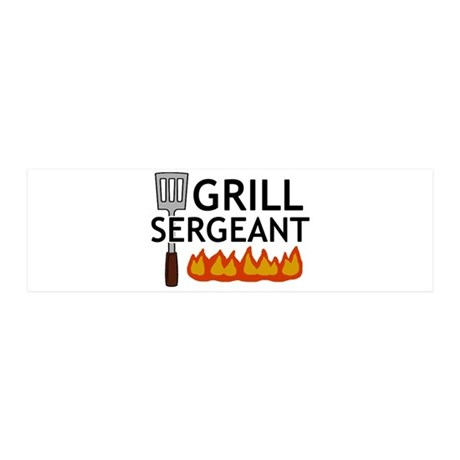 'Grill Sergeant' 42x14 Wall Peel