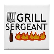 'Grill Sergeant' Tile Coaster