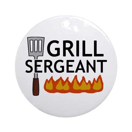 'Grill Sergeant' Ornament (Round)