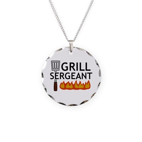 'Grill Sergeant' Necklace Circle Charm