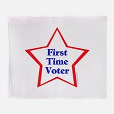 First Time Voter Star Throw Blanket