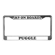 K9 On Board Puggle License Plate Frame
