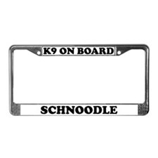 K9 On Board Schnoodle License Plate Frame