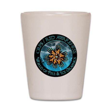 CRPS / RSD Awareness World of Shot Glass