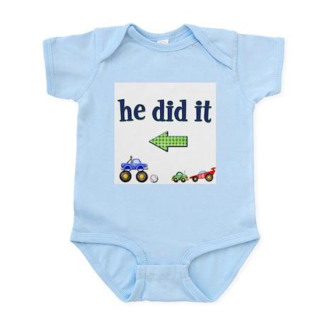 He Did It... (Left) Infant Creeper