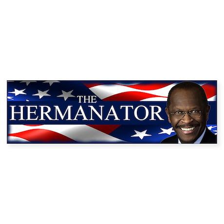 The Hermanator Sticker (Bumper)