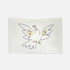 Cute Peace dove Rectangle Magnet