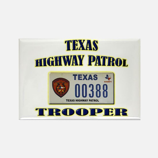 Texas Highway Patrol Rectangle Magnet