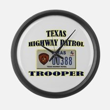 Texas Highway Patrol Large Wall Clock