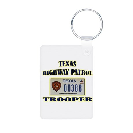 Texas Highway Patrol Aluminum Photo Keychain