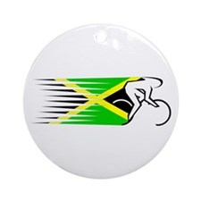 Track Cycling - Jamaica Ornament (Round)