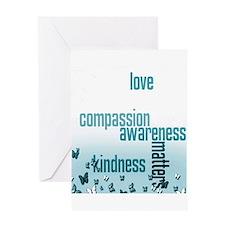 Kindness Matters Aqua Greeting Card