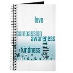 Kindness Matters Aqua Journal