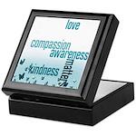 Kindness Matters Aqua Keepsake Box