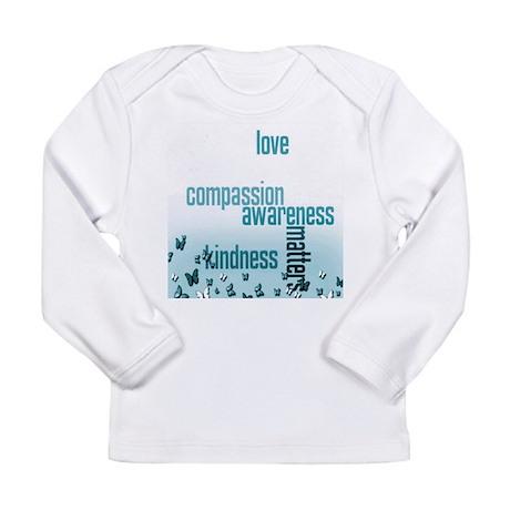 Kindness Matters Aqua Long Sleeve Infant T-Shirt