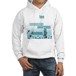 Kindness Matters Aqua Hooded Sweatshirt
