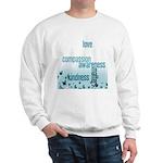 Kindness Matters Aqua Sweatshirt
